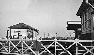 Bescar Lane railway station - Bescar Lane railway station in 1966.