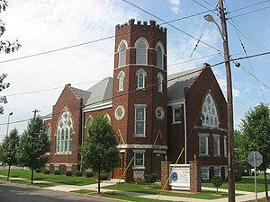 National Register of Historic Places listings in Vigo County, Indiana - Image: Bethany United Church of Christ in West Terre Haute