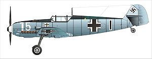 Jagdgeschwader 1 (World War II) - Bf 109E-3 flown by the original I./JG 1 in France 1940