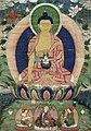 Bhaisajyaguru (the Medicine Buddha) and Padmasambhava Wellcome L0015305 (cropped).jpg