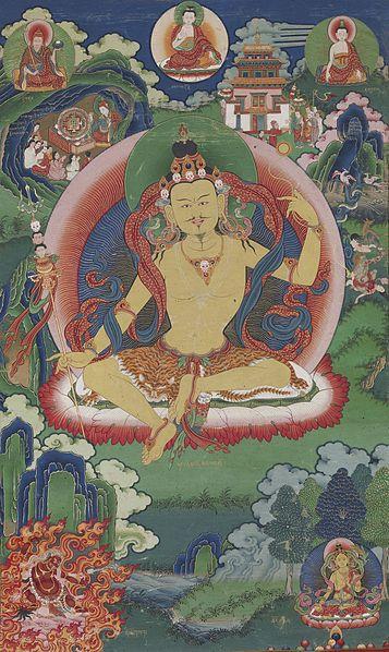 File:Bhutanese painted thanka of Guru Nyima Ozer, late 19th century, Do Khachu Gonpa, Chukka, Bhutan.jpg