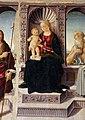 Biagio d'antonio, Madonna tra i santi Giovanni Battista e Girolamo, 04.JPG