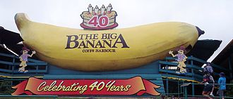 Banana plantation - The Big Banana - A tourist facility on an Australian banana plantation.