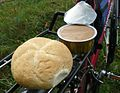 Bike, bread, pate.JPG