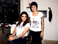Bipasha gets styled at Mad-O-Wat salon 01.jpg