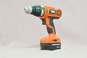 Black & Decker - A Black and Decker cordless drill
