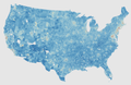 Block Group Level Map of Median Household Income in the Contiguous United States.png