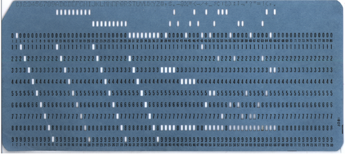 Punch Cards from Very, Very Old Computers