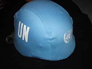 """International Day of United Nations Peacekeepers - The famous UN """"Blue Helmet"""""""