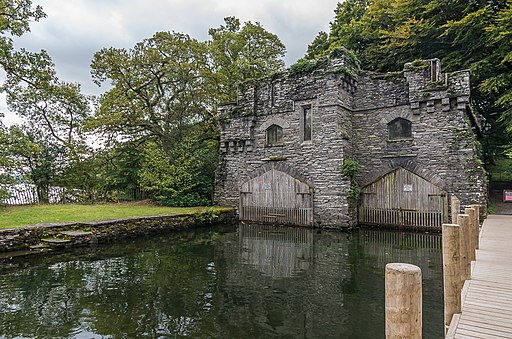 Boathouse, Wray Castle (geograph 5984064)