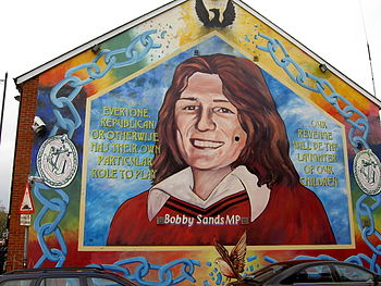 A mural dedicated to republican hunger striker...