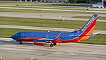 Boeing 737-700 of Southwest Airlines preparing to Takeoff KCMH 1.jpg