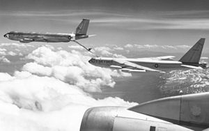Boeing B-52E-85-BO (SN 56-0635) is refueled by Boeing KC-135A (SN 57-1467) 061127-F-1234S-024.jpg
