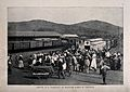 Boer War; train platform showing the arrival of wounded Boer Wellcome V0015516.jpg