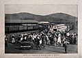 Boer War; train platform showing the arrival of wounded Boer Wellcome V0015516.jpg
