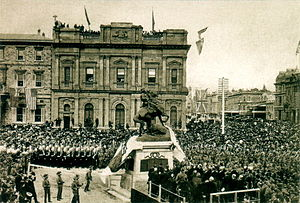 South African War Memorial (South Australia) - The unveiling of the memorial (6 June 1904).