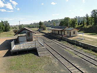 Bombala, New South Wales - Bombala Railway Station.