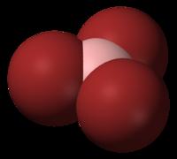Model molekuly bromidu boritého