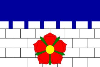 Borovany (České Budějovice District) - Image: Borovany flag