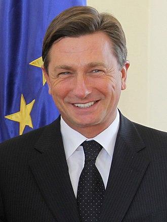 Slovenian presidential election, 2017 - Image: Borut Pahor 2010 10 08