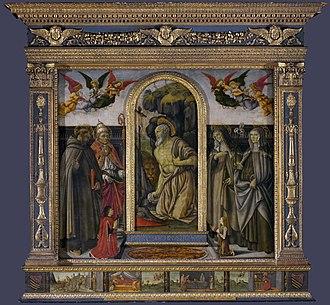 Francesco Botticini - Francesco Botticini, San Gerolamo Altarpiece, National Gallery, London