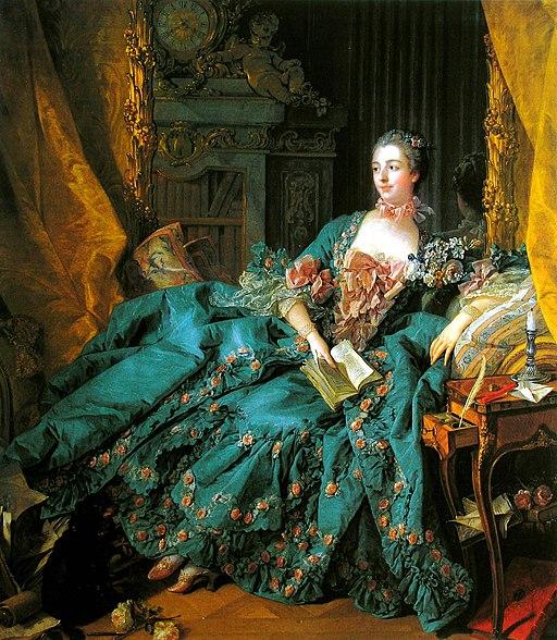 """""""Portrait of Madame de Pompadour"""" by François Boucher"""