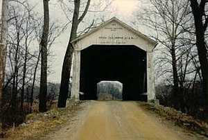 Bowsher Ford Covered Bridge - Image: Bowsherfordbridge