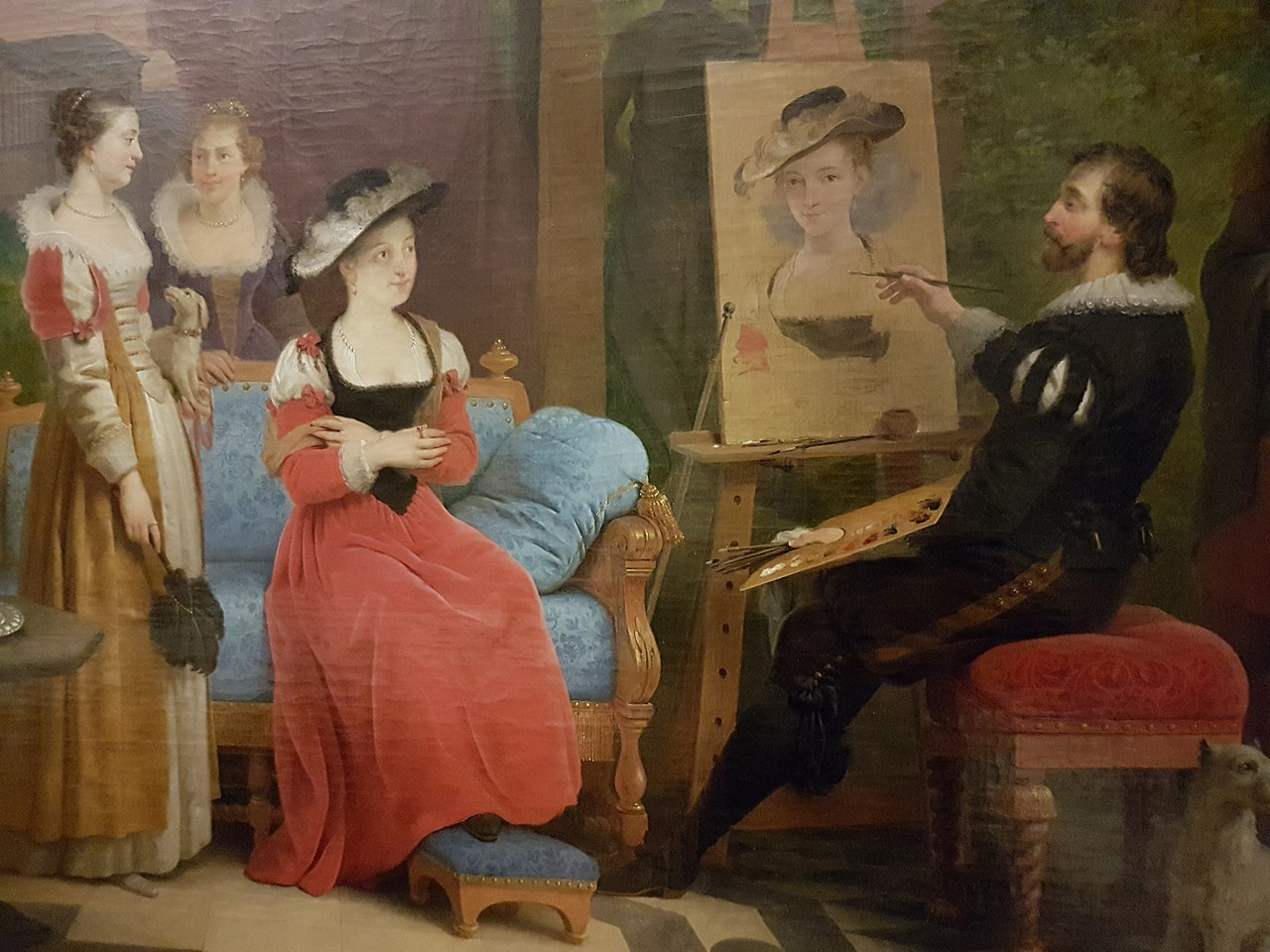 Braekeleer - Rubens - Chapeau de paille - detail.JPG