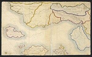Branwell Brontë - Branwell Brontë, Map of Angria, c. 1830–1831