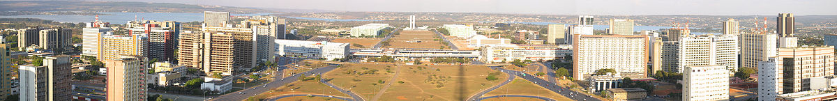 Panoramic picture of Brasília from the TV tower