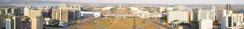 Panorama do Eixo Monumental.