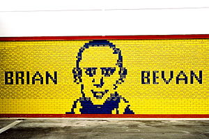Halliwell Jones Stadium - Brian Bevan commemorative mural