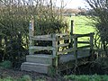 Bridge Stile over Drainage Ditch - geograph.org.uk - 327228.jpg