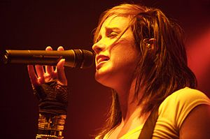 Britt Nicole discography - Nicole performing in Knoxville, TN in 2008.