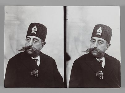 Brooklyn Museum - A Double Portrait of Mozaffar al-Din Shahl One of 274 Vintage Photographs.jpg