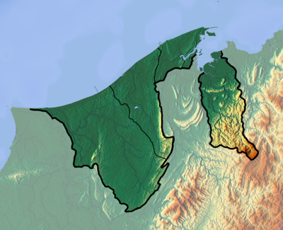 Location map Brunei
