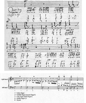 Hans Buchner - Fingered setting of Quem terra, pontus, the pre-tridentine office hymn for the Assumption (A second setting by Buchner is also found in the ms. Basel FI 8a)
