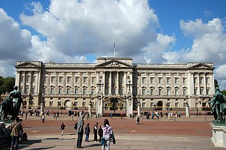 Palace - The Buckingham Palace in London, the royal seat of United Kingdom's monarchy