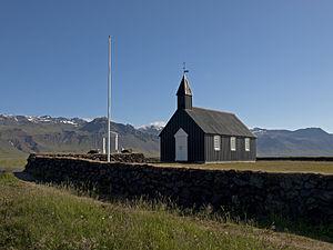Snæfellsbær - Image: Budakirkja front view
