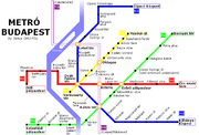 Map of the Budapest Metro