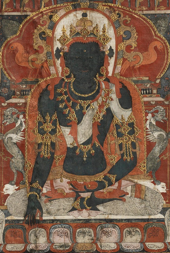 File:Buddha Akshobhya from Tibetan thangka jpg - Wikimedia