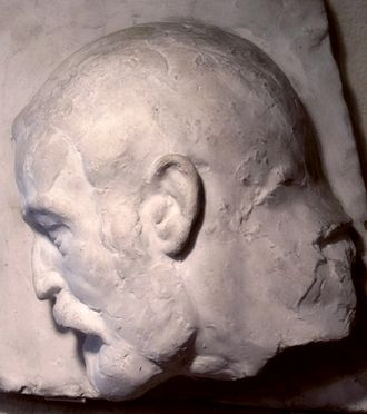 Frank Budgen - Plaster head by August Suter (1927), August-Suter-Museum, Eptingen