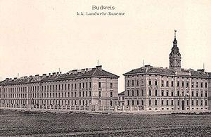 Imperial-Royal Landwehr - Landwehr barracks in Budweis