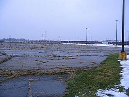 De site na het slopen in 2002.