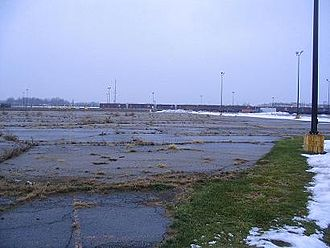 Flint, Michigan - The demolition site of Buick City, for many years General Motors' flagship factory on the North side.