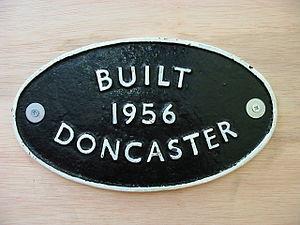 Doncaster Works - Doncaster works plate.