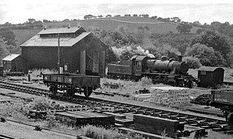 Builth Road railway station - The engine shed at Builth Road in 1962