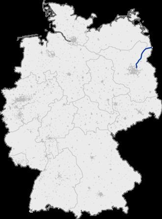 Bundesautobahn 11 - Image: Bundesautobahn 11 map
