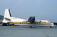 Busy Bee F-27 at Basel 1982.jpg