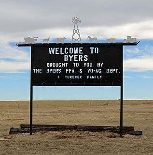 Byers, Colorado CDP in State of Colorado, United States